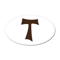 Tau Cross or Crux Commissa 20x12 Oval Wall Decal