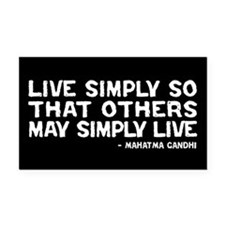 Quote - Live Simply Rectangle Car Magnet