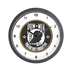 Masonic POW/MIA Warrior Wall Clock