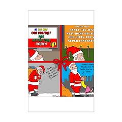 Santa Gets No Respect Mini Poster Print