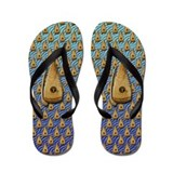 Bowed psaltery Flip Flops