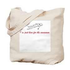 Im just here for the savasana Tote Bag