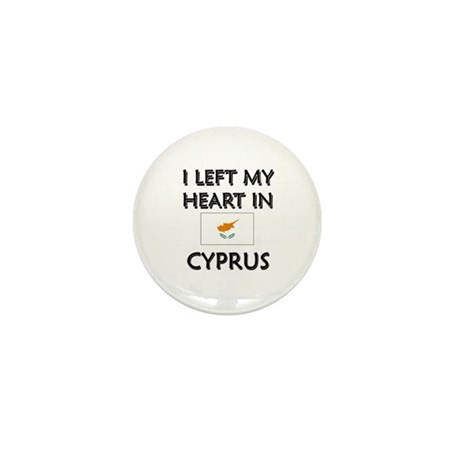 I Left My Heart In Cyprus Mini Button