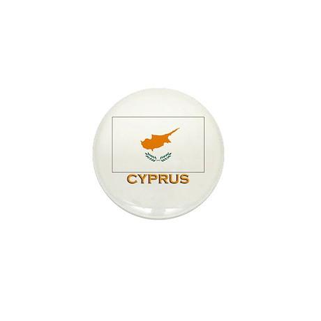 Cyprus Flag Gear Mini Button