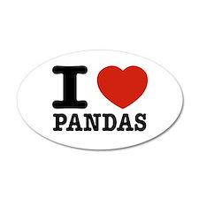I love Pandas Wall Decal