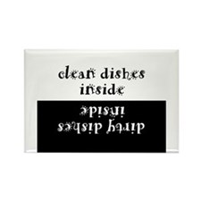 Funny Eat clean Rectangle Magnet