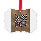 Cute Sprint car Picture Ornament
