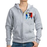 Smooth fox terrier Zip Hoodies