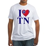 I Love Tennessee Fitted T-Shirt