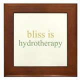bliss is HYDROTHERAPY  Framed Tile