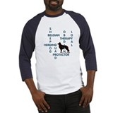 Belgian sheepdog Crossword Baseball Jersey