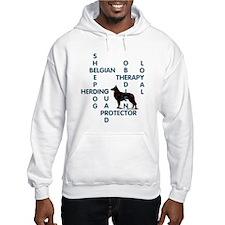 Belgian sheepdog Crossword Hoodie