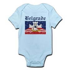 Flag Of Belgrade Design Infant Bodysuit