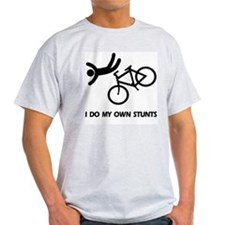 Bike, Bike, Funny Bike Stunts Ash Grey T-Shirt
