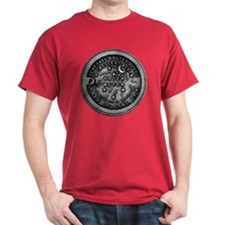 Water Meter Cover Red T-Shirt