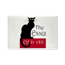 The Ennui Cat Rectangle Magnet