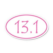 Pink 13.1 Oval Car Magnet