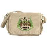 Hok San Lion Green Messenger Bag