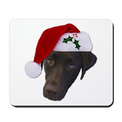 Christmas Lab Mousepad