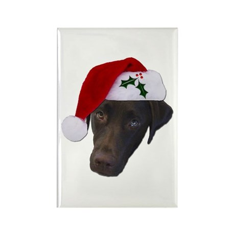 Christmas Lab Rectangle Magnet