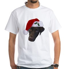 Christmas Lab White T-Shirt