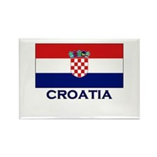 Croatia Flag Gear Rectangle Magnet