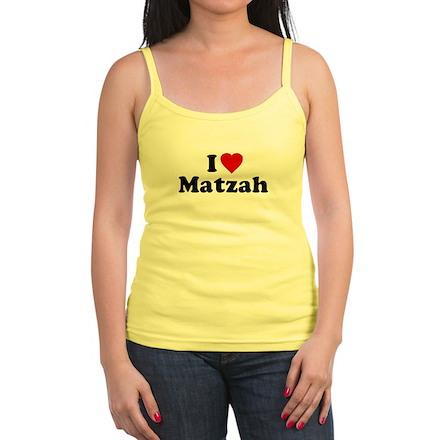 I Love [Heart] Matzah Jr Spaghetti Tank