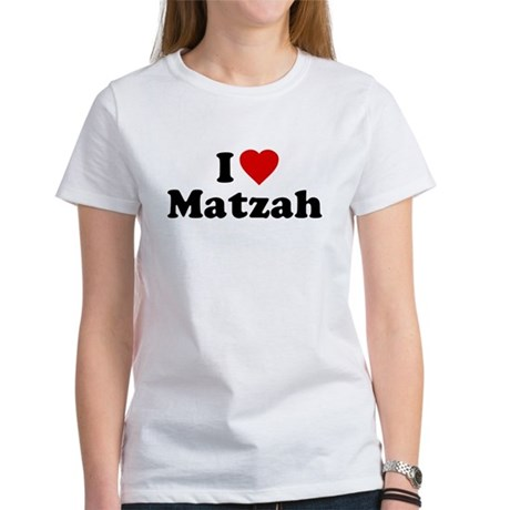 I Love [Heart] Matzah Womens T-Shirt