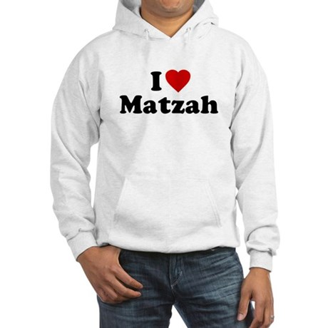 I Love [Heart] Matzah Hooded Sweatshirt