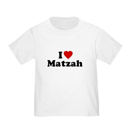 I Love [Heart] Matzah Toddler T-Shirt