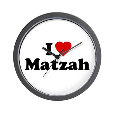 I Love [Heart] Matzah Wall Clock