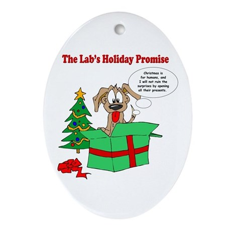 Lab Holiday Promise #1 Oval Ornament