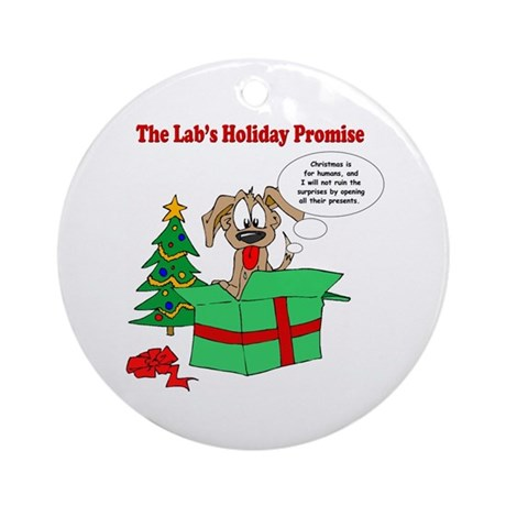 Lab Holiday Promise #1 Ornament (Round)
