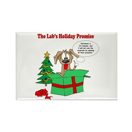 Lab Holiday Promise #1 Rectangle Magnet