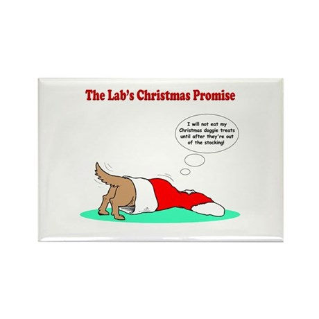 Lab Holiday Promise #2 Rectangle Magnet