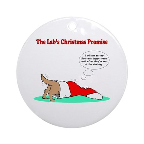 Lab Holiday Promise #2 Ornament (Round)