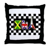 Flags of Ska: France Throw Pillow