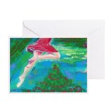 flying holiday dancer Greeting Cards (Pk of 10