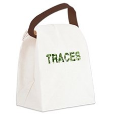 Traces, Vintage Camo, Canvas Lunch Bag