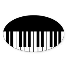 Piano Key Sticker (Oval)