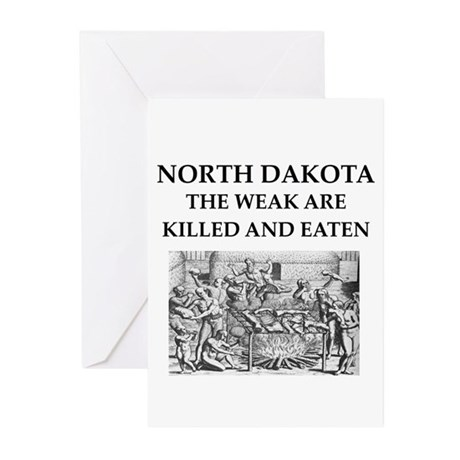 north dakota Greeting Cards (Pk of 10)