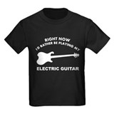 Electric Guitar silhouette designs T
