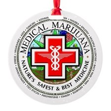 Medical Marijuana logo Ornament