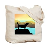 basset hound by the sea Tote Bag