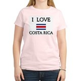 Flag of Costa Rica Women's Pink T-Shirt