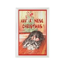 Havanese Holiday Rectangle Magnet