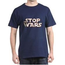 Stop Wars White on Blue/T-Shirts