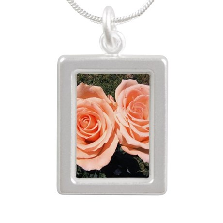 peachroses-shirt.jpg Silver Portrait Necklace