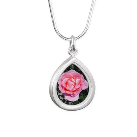 pinkrose-shirt.jpg Silver Teardrop Necklace