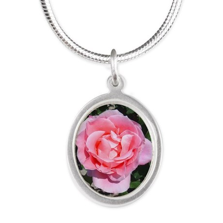 pinkrose-shirt.jpg Silver Oval Necklace